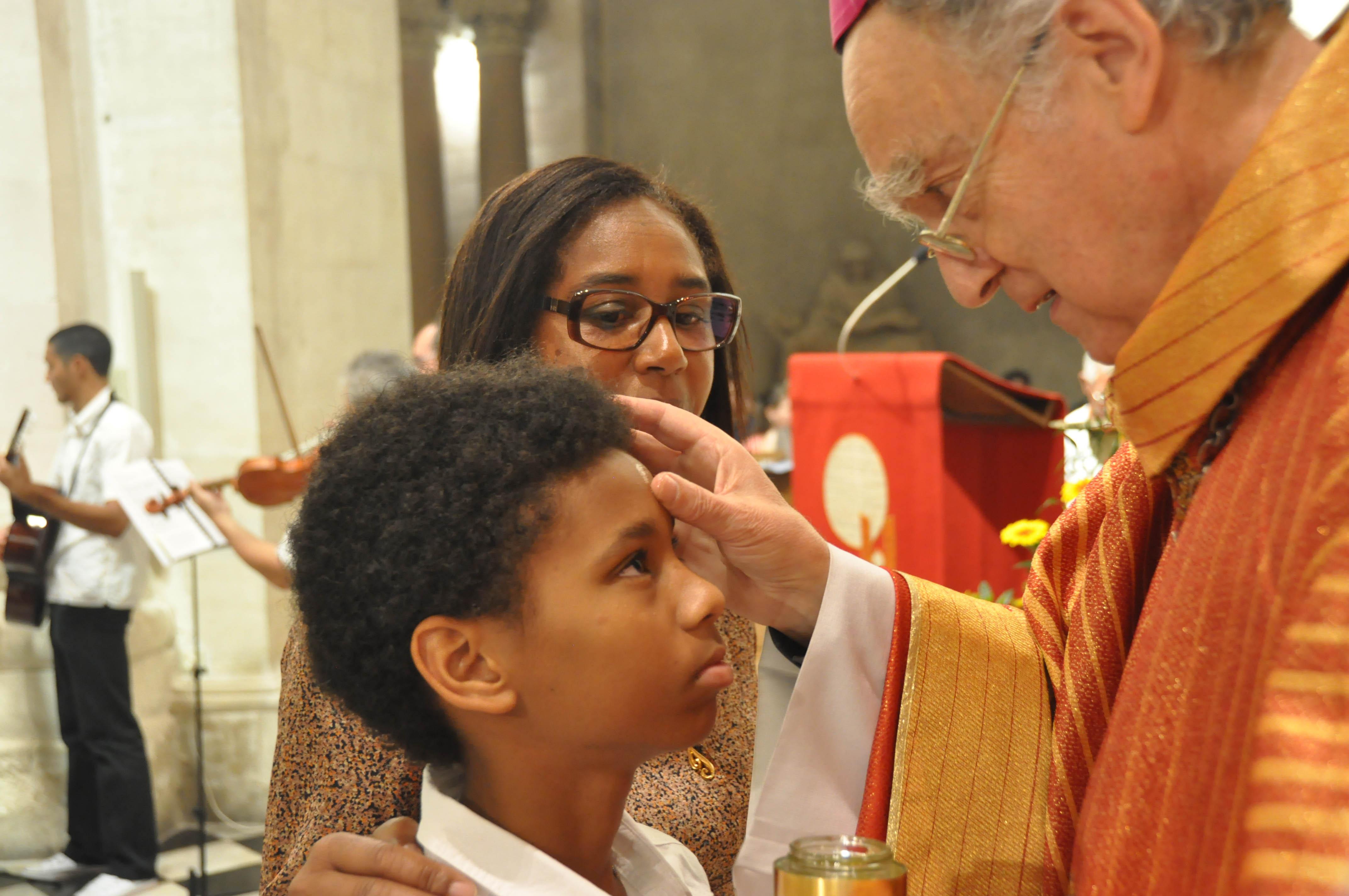 Confirmation à l'église des Chartreux